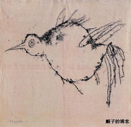叶永青鸟:的叶永青《鸟》这幅画为什么值25万?